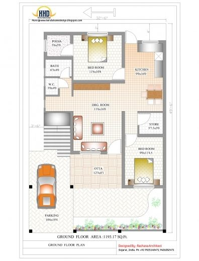 Marvelous Home Plan Design 1200 Sq Feet Ft House Plans In Tamil Nadu Ground 1000 Sq Ft House Indian House Plans House Designs Exterior Modern House Floor Plans