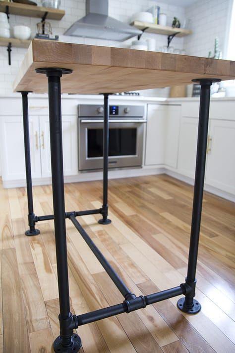 9 Metal Kitchen Island Ideas Kitchen Island Cart Metal Kitchen Metal Kitchen Island