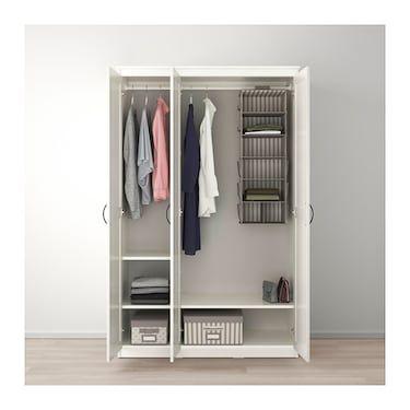 SONGESAND Wardrobe white 120x60x191