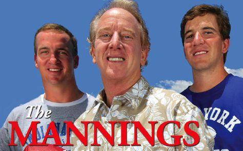 Peyton Manning Family | Archie Manning/Peyton Manning & Eli Manning