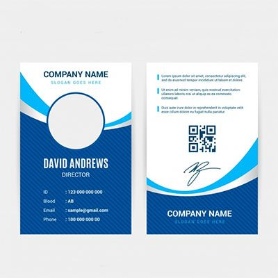 An Id Card With A Bar Code Or Qr Code Printed On It Simpler Cards Employee Id Card Id Card Template Identity Card Design