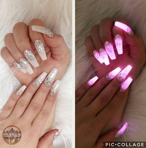 Glow In The Dark Nail Best Trends Nail Design 2018 Glow Nails Coffin Nails Designs Bling Nails