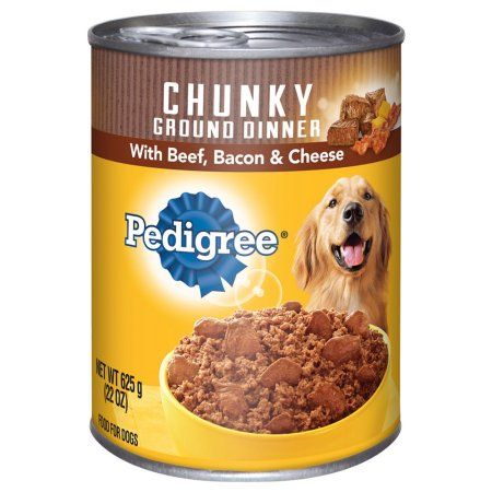 Pedigree Chunky Ground Dinner With Beef Bacon And Cheese Canned