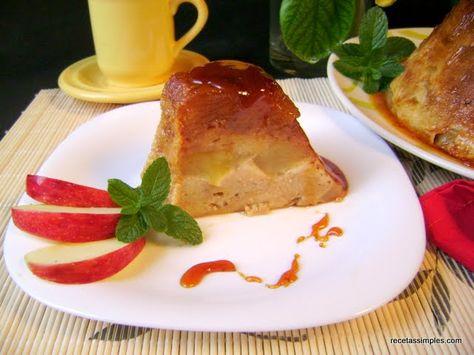 Flan de dulce de leche y manzana
