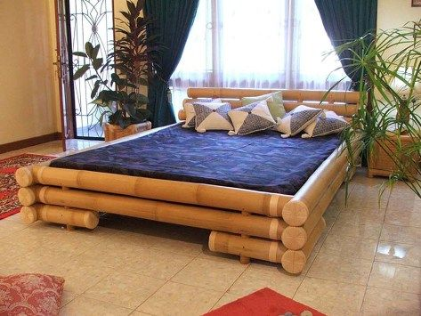 bamboo bedroom furniture. I want one of these outside or in a lanai  Carpentry ideas Pinterest Bedrooms Bamboo furniture and