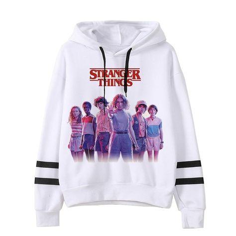 Stranger Things Season 3 Hoodie Unisex Harajuku Eleven Hip Hop Oversized Hoodie, 999 / M