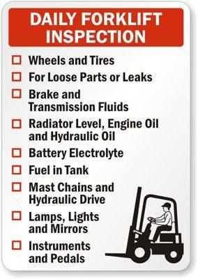 Daily Forklift Inspection | Forklift Tips | Industrial