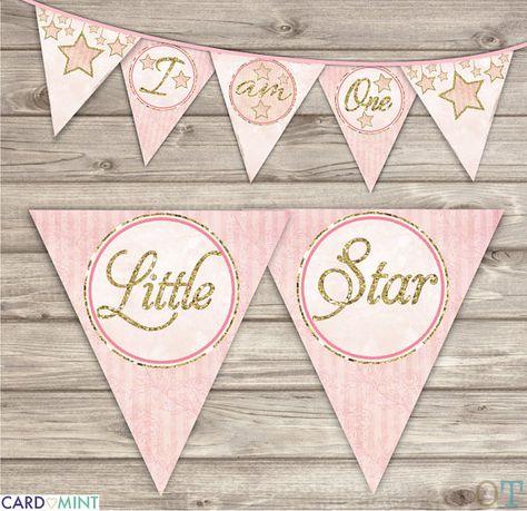 Imprimé Fille Bannière Ensemble Twinkle Twinkle Little Star
