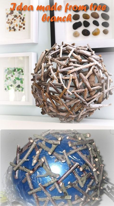 Idea made from tree branch