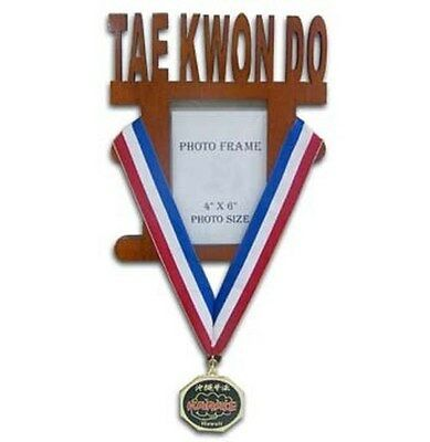 Taekwondo Wooden Photo Frame Medal Display Item:08448 TKD Martial Arts Gifts