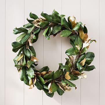 Faux Gold Metallic Magnolia Leaves Wreath Magnolia Leaf Wreath Magnolia Wreath Magnolia Leaves
