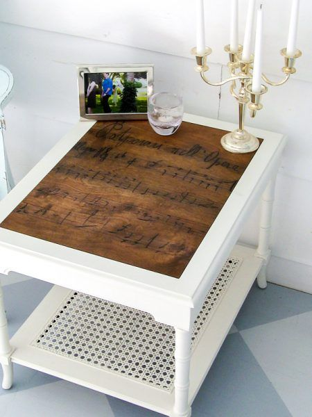 Trash To Treasure Replace A Glass Table Top Lovely Etc End