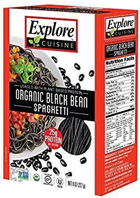 Amazon Com Explore Asia Organic Black Bean Spaghetti 8 0 Ounce
