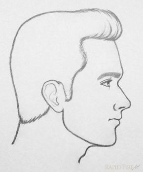 How To Draw An Ear 5 Easy Steps Side Face Drawing Face Drawing Cartoon Drawings