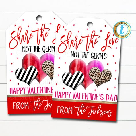 🐕 Big deals! Valentine Gift Tags, Share Love Not Germs Tag, Soap Hand Sanitizer Gift, Classroom School Teacher Staff Nurse Gift, DIY Editable Template only at $7.75 Hurry. #ThankYouTag #NotGerms #StaffEmployee #TeacherValentine #SpreadLove #SchoolPtoPta #TeacherAppreciation #NeighborFriend #ValentinesDayGift #ClassroomPrintables