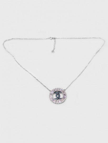 سلسله فضة عيار 925 سلسلة فضة ايطالى بدلاية شانيل Channel Diamond Necklace Jewelry Diamond