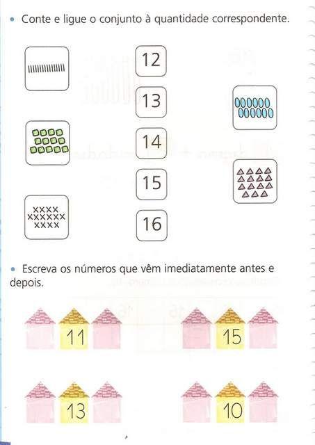 Exercicios De Sistema De Numeracao Decimal Do 10 Ao 20 Em 2020
