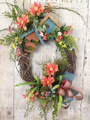 Summer Wreaths Spring Wreath Front, Outdoor Spring Wreaths For Front Door