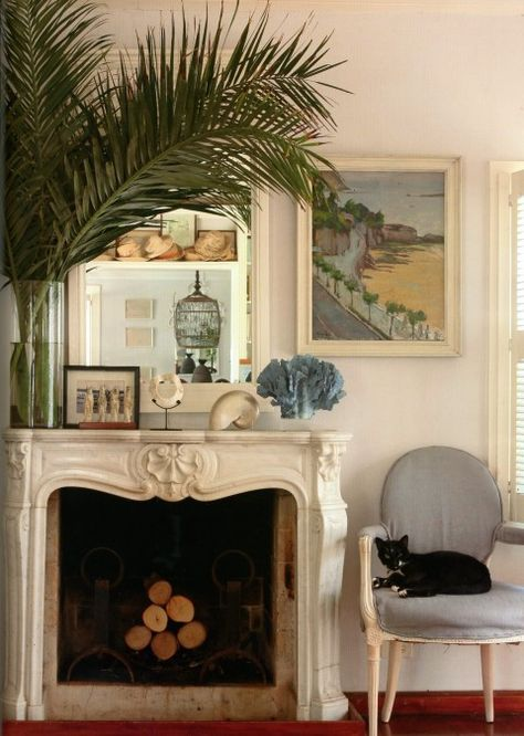 Pin By Jennifer Coll On Fireplace British Colonial Style Home French Country Fireplace
