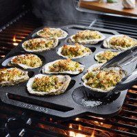 Sur La Table Cast Iron Oyster Pan, 12 Cavity, available at