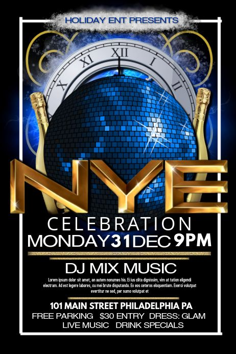New Years Eve In 2020 Flyer Newyear Flyer Template