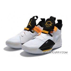 "on sale 9e776 f2376 Air Jordan 33 ""Oladipo PE"" White/Black-Yellow Latest ..."