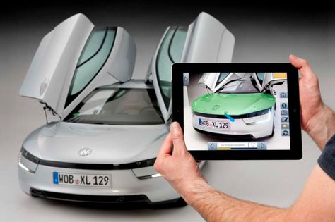 VW's augmented reality interface for technicians working on its XL1 concept car
