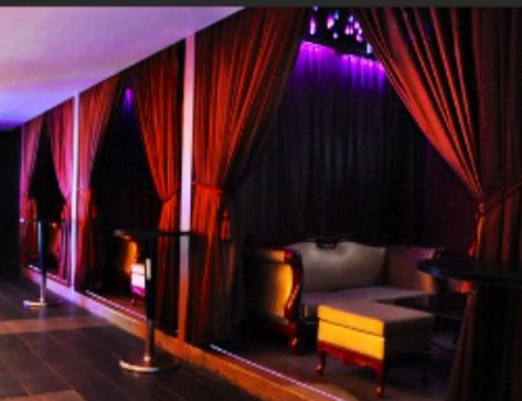 My design.private booths in a night club..sophisticated and classy. Using