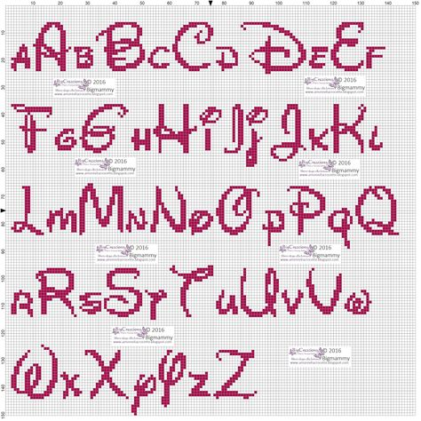 Amorevitacrocette Alfabeti Disney A Punto Croce Lettere Punto