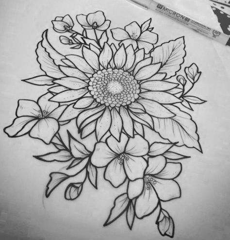 Ten Reasons Why You Shouldn't Go To Sunflower Tattoo Drawing On Your Own | sunflower tattoo drawing | Tattoo Design Ideas
