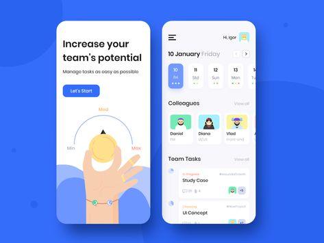 Team Schedule - Mobile app concept