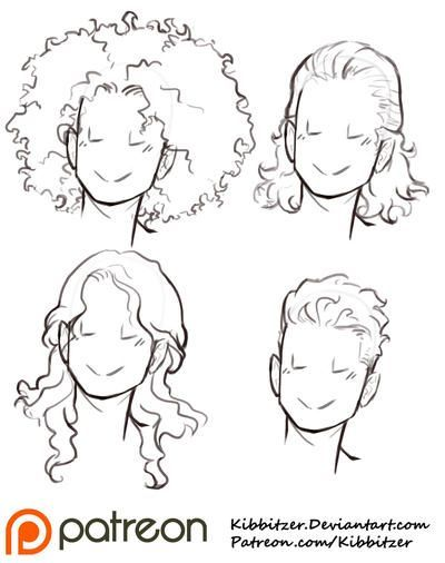Hair Reference Drawing Hair Reference In 2020 Curly Hair Drawing Hair Reference How To Draw Hair