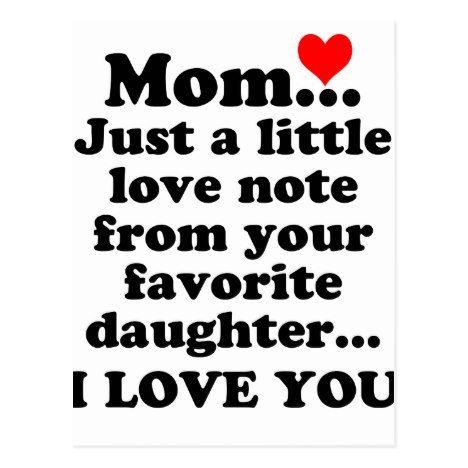 I Love You Mom Postcard Zazzle Com Love You Mom Quotes I Love You Mom I Love You Mother