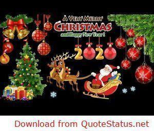Merry Christmas 2019 And Happy New Year 2020 Whatsapp Status