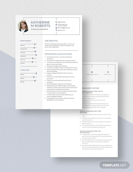 Scheduling Coordinator Resume Template Ad Affiliate Coordinator Scheduling Template Resume In 2020 Teacher Resume Template Teacher Resume Manager Resume