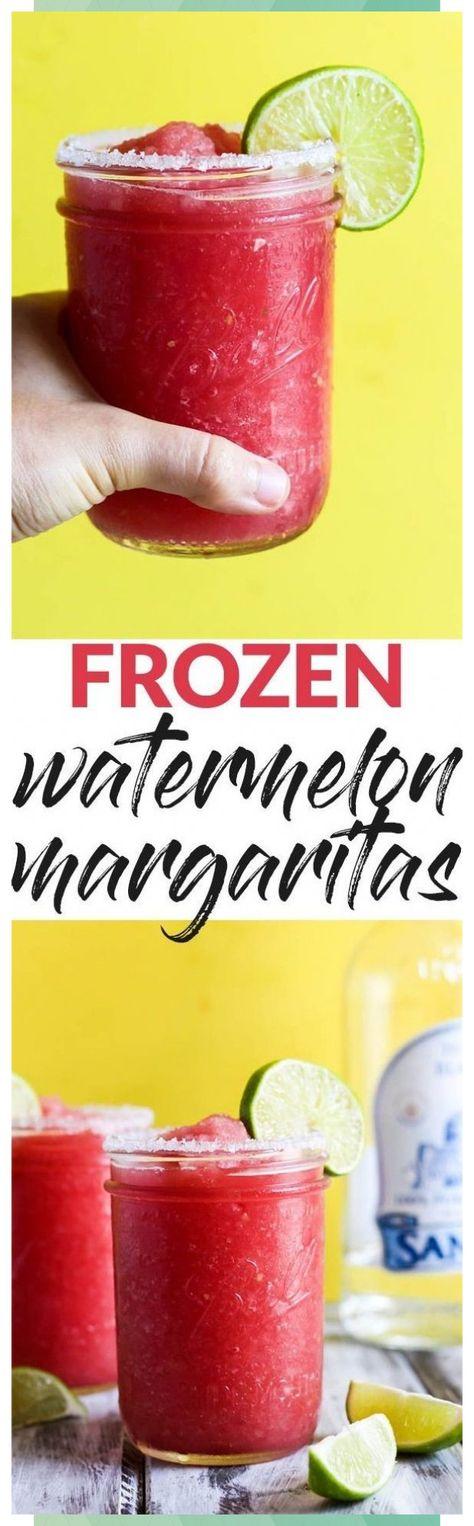 Frozen Watermelon Margarita - #Frozen #Margarita #Watermelon