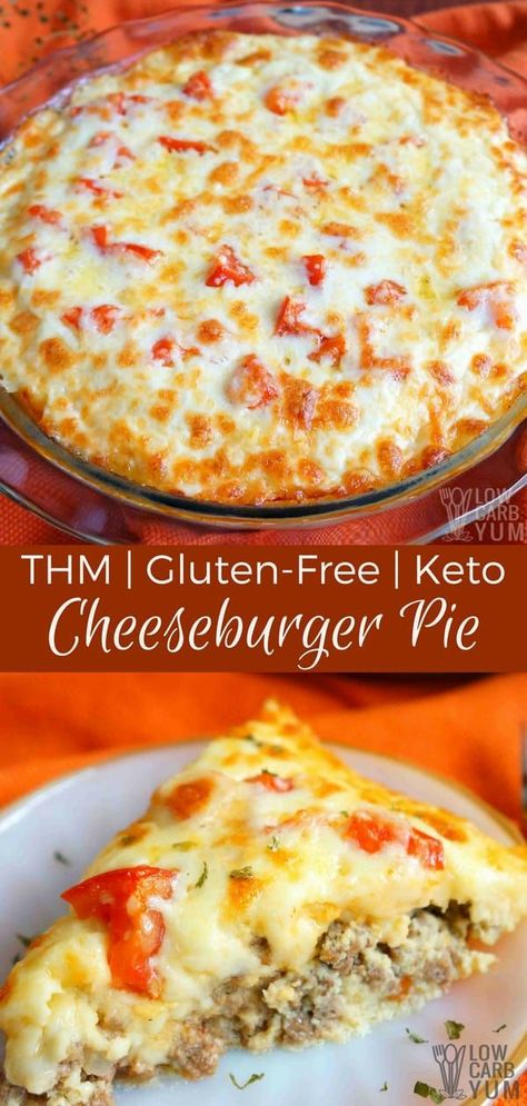 No carb diets 8444318039686408 - This simple keto low carb cheeseburger pie recipe has been made gluten free and THM friendly by using a coconut flour mixture instead of regular flour. Source by WildMagnoliaSoaps Thm Recipes, Ketogenic Recipes, Cooking Recipes, Low Carb Hamburger Recipes, Coconut Flour Recipes Low Carb, Recipies, Dessert Recipes, Lunch Recipes, Family Recipes