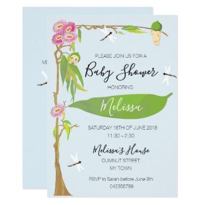 Gumnut Baby Personalised Shower Invitations