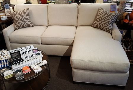 Sale 5732 Sectional Series Two Piece Track Arm Sectional Sofa In Grade F Duke Alabaster Fabric With Contrast Stitching And Con Sectional Sectional Sofa Sale