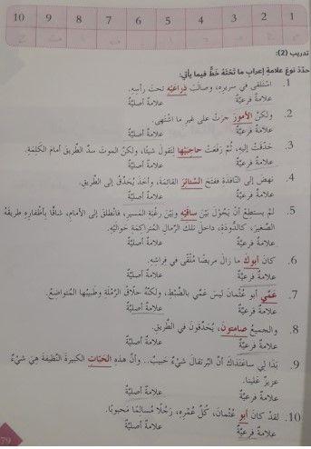 حل علامات اعراب الاسم الاصلية والفرعية صف سابع عربي Lie Journal School