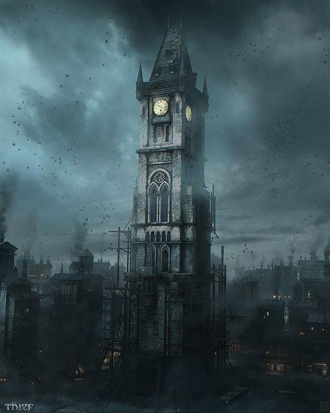 Thief - Garett Hideout Clocktower by Nicolas Ferrand
