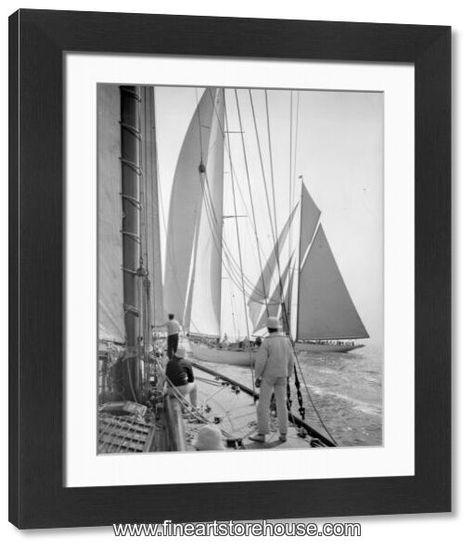 Print of Yachts Sailing