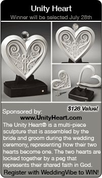 Wedding Giveaways Win A Unity Heart In This Contest