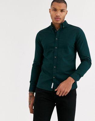 Pin By Adeeb Alnabulsi On Pull Bear Oxford Shirt Green Shirt Men Dark Green Shirt