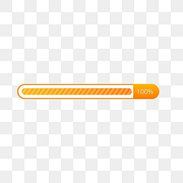 Orange Gradient Loading Completion Progress Bar Loding 100 Loaded Cached Png And Vector With Transparent Background For Free Download Progress Bar Progress Geometric Background