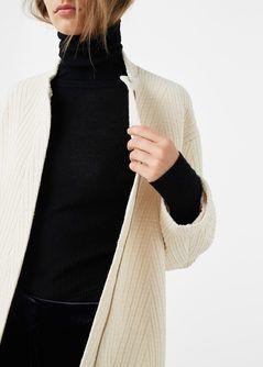 Manteau en laine et coton