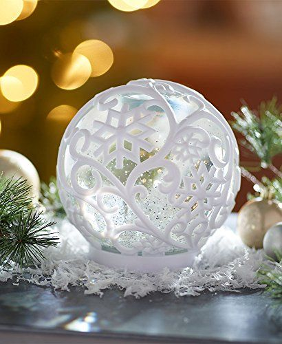 The Lakeside Collection Oversized Color Changing Waterball Snowflake Christmas Ornaments Top Brands Artists Designer Names Color Change Color Light Decorations