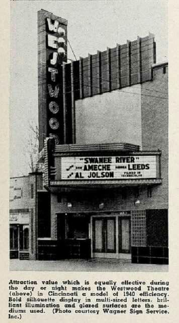 Westwood Cinemas In Westwood On Harrison Avenue Cincinnati Cincinnati Ohio Old Neon Signs