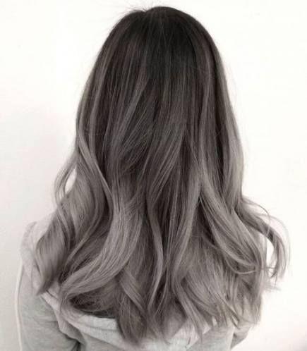 55 Ideas For Hair Color Ash Grey Highlights Grey Ombre Hair Ash Hair Color Hair Styles