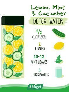 Lemon Mint Cucumber Detox Water Recipe Healthy Detox Cucumber Detox Water Healthy Detox Cleanse